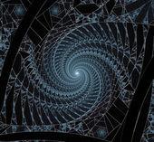 23明亮的蓝色螺旋分形背景图 — 图库照片