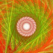 Abstract orange fractal picture with circle pattern, mandala — Stock Photo