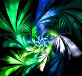 Green fantasy background fractal detailed illustration — Stock Photo