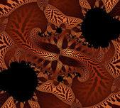 Fantasy orange background illustration detailed fractal — Stock Photo