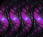 Violet fractal background illustration colorful on black backgro — Stock Photo