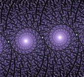 яркий синий спираль фрактальной фона иллюстрация — Стоковое фото