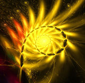 Yellow abstract fractal illustration — Stock Photo