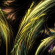 Abstract orange and yellow  fractal illustration — Stock Photo