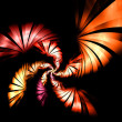 Fantasy orange background illustration detailed fractal — Stock Photo