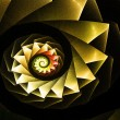 Fractal yellow swirl abstract background — Stock Photo