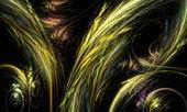 Ilustração abstrata fractal laranja e amarelo — Foto Stock
