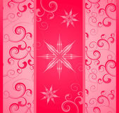 Vector illustration with snowflakes and flourishes winter chris — Stock Photo