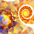 Stock Photo: Orange spiral abstract background