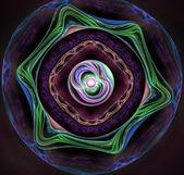 Círculos coloridos fractal ornamento ilustração — Foto Stock
