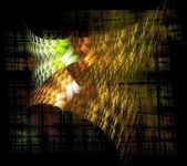 Abstract orange and yellow fractal background techno — Stock Photo