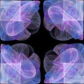 明るい紫抽象的なフラクタルの図 — ストック写真