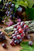 Grapes with leaves — Stock fotografie