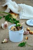 Cream of mushroom soup — Stock Photo