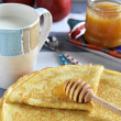Russian pancakes (Blini). Close up. — Stock Photo