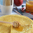 Russian pancakes (Blini). Close up. — Stock Photo #38740935