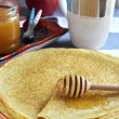 Russian pancakes (Blini). Close up. — Stock Photo #38741903
