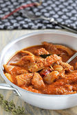 Tripe with tomato sause, spicy chili. — Stock Photo