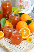Orange marmalade. Selective focus. — Stock Photo
