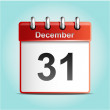 Calendar vector icon — Vettoriale Stock #34976157