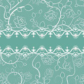 Lace seamless pattern with pearls — Stock Vector