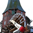 Destroyed windmill in storm 2013 — Stok fotoğraf