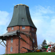 Foto Stock: Destroyed windmill in storm 2013