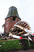 Destroyed windmill in storm 2013 — Stock Photo