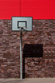 Outdoor basketball palisade — Stock Photo