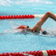 Swimming girl — Stockfoto