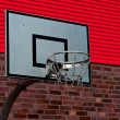 Outdoor basketball palisade — Stock Photo