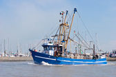 Crabber on sea — Stock Photo