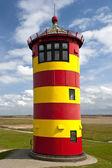 Leuchtturm am damm — Stockfoto