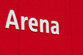 Arena text on the wall — Stok fotoğraf