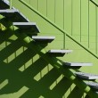 Stairs with balustrade — Stock Photo