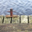 Anchor on pier margin — Stock Photo #38434153