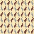 Hare seamless pattern — Stock Vector #34044091