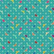 Seamless geometric pattern — Vector de stock #34044703