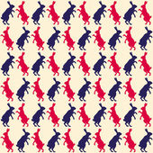 Hare seamless pattern — Stock Vector
