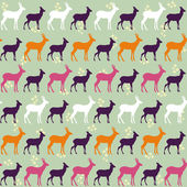 Seamless roe pattern design. — Stock Vector
