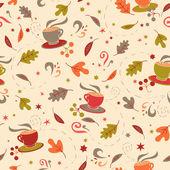 Naadloze patroon met Herfstbladeren — Stockvector