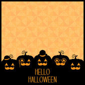 Hello Halloween Pumpkins Background — Stock Vector