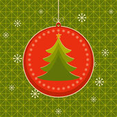 Merry Christmas! Happy New Year! Tree. Holiday with fir-tree — Stock Vector