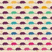 Opossum pattern. — Stock Vector