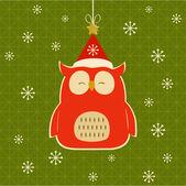 Coruja de natal. — Vetorial Stock
