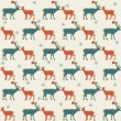 Seamless pattern. Deer. — Stock Vector