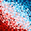 Abstract geometric background, red and blue — Stock Vector