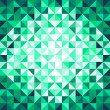 Abstract geometric background. Green. — Stok Vektör