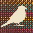 Colorful birds seamless pattern. — Stok Vektör