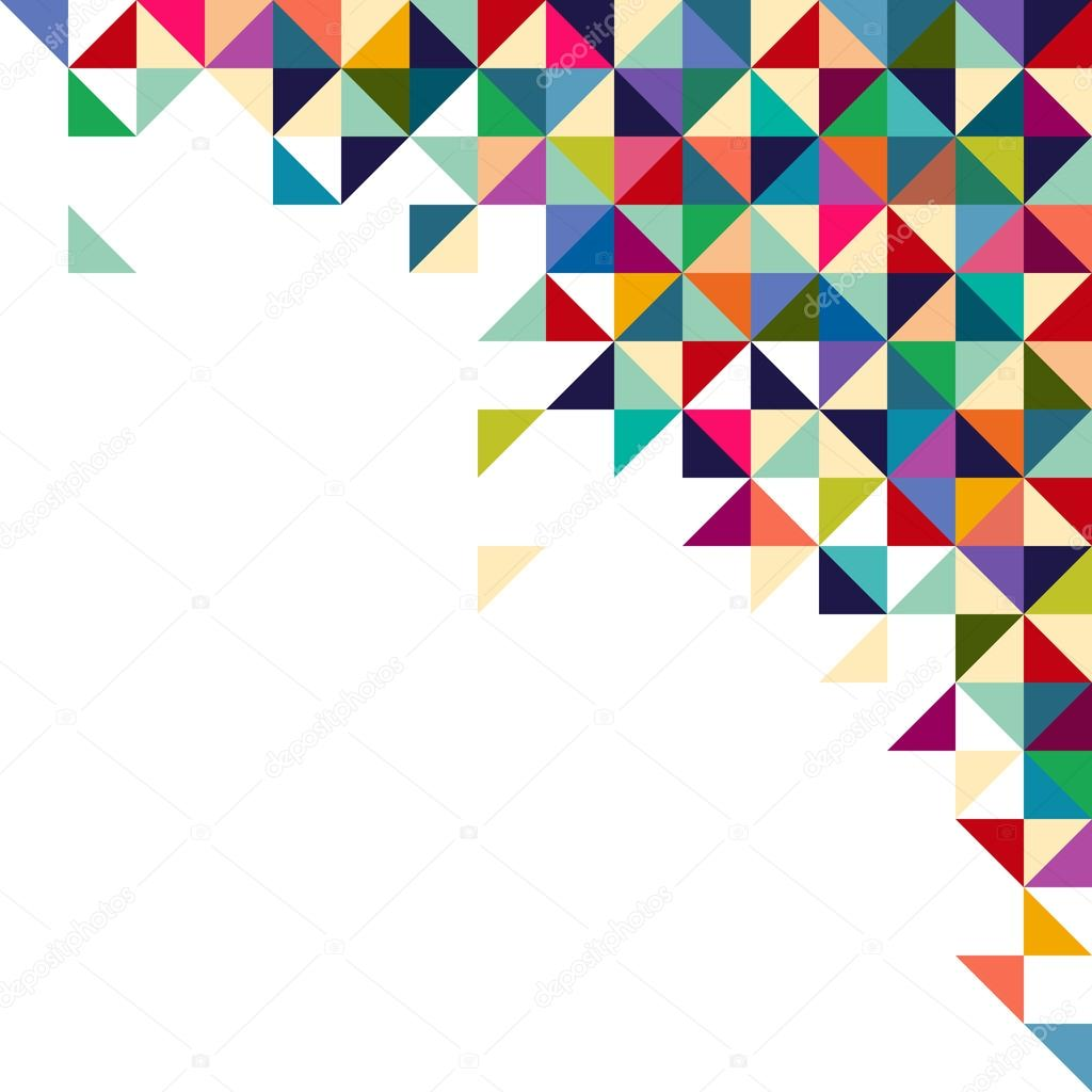 Abstract Geometric Background Triangle And Square